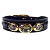 Black Patent Leather Designer Dog Collar | Regal Beauty