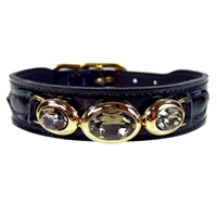 Regal Beauty Black Patent Leather Dog Collar