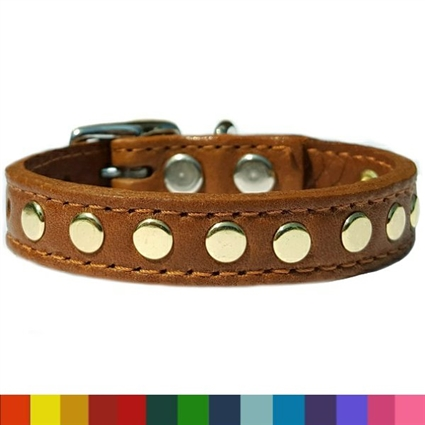 Custom Leather Small Dog Collars | My Little Stud
