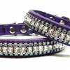 Purple Leather Small Dog Collar | Paradise Bling