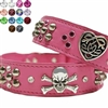 Studded Leather Dog Collars | Pink Princess