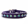 Purple Leather Designer Dog Cat Collar | Paradise Shine