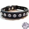 Purple Ice Bling Designer Dog Cat Collar | Leather