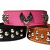 The Heart of a Bully Leather Dog Collar - Tapered