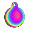 Dog Cat ID Tags | Round, Rainbow | Personalized