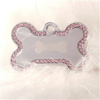Dog Collar ID Tag | Swarovski Pave Bone