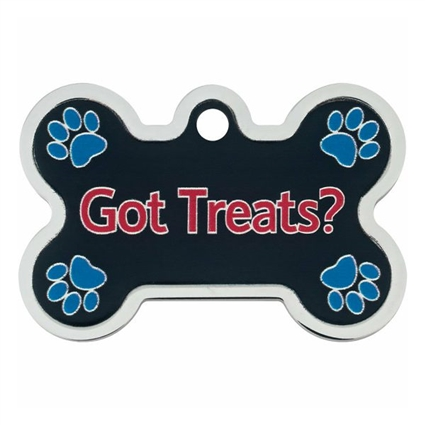 Dog ID Collar Tags | Got Treats? | Personalized