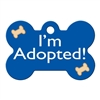 Dog ID Tags | I'm Adopted Blue | Personalized
