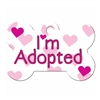 Dog ID Tags | I'm Adopted Pink | Personalized, Engraved