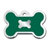 Dog ID Tags | Green Bone | Personalized, Engraved
