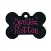Dog ID Tags | Spoiled Rotten with Glitter | Personalized