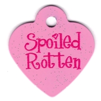 Dog Cat ID Tags | Spoiled Rotten | Personalized, Engraved