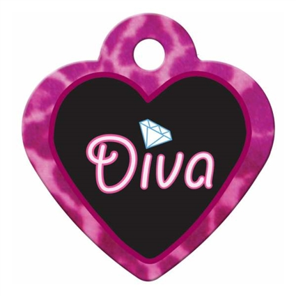 Dog Cat ID Tags | Diva Pink | Personalized, Engraved