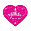 Designer Dog ID Tags | Pink Princess | Personalized, Engraved