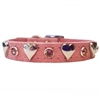 Pink Leather Dog Cat Collars | Sweetheart Bling