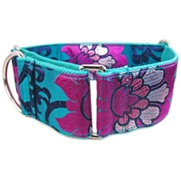 Lotus Flower Martingale Greyhound Dog Collar