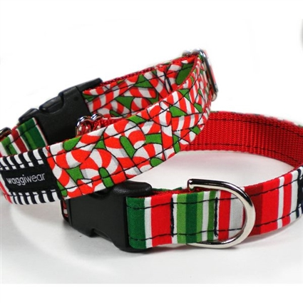 Christmas Candy Canes Dog Cat Collar