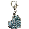 Swarovski Pave Heart Dog Cat Collar Charm
