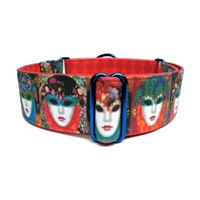 Masquerade Martingale Lupine Dog Collar