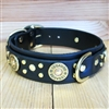 Shotgun Shell Leather Large Dog Collar