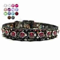 Diamond Dragon Bling Leather Collars for small dogs and cats