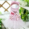 Sweetheart Pink Denim Small Dog Harness Dress