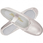 Metallic Silver Child Ballet Slippers by Trimfoot - You Go Girl Dancewear