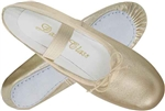 Metallic Gold Adult Ballet Slippers by Trimfoot - You Go Girl! Dancewear