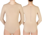 Baltogs Custom Made Women's Long Sleeve Crew Neck Leotard with Back Zipper