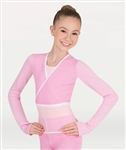 Body Wrappers Child Dots & Stripes Long Sleeve Wrap Sweater - You Go Girl Dancewear
