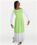 Body Wrappers Women's Plus Size Fly-Away Panel Tunic