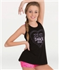 Body Wrappers Move with Your Feet; Dance with Your Heart Screenprinted Loose-fit Top