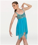 Body Wrappers Teal Camisole Dress