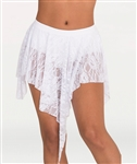 Body Wrappers Women's Lace Convertible Hi-Low Drapey Skirt in Sizes XS/S, M/L, XL/2X - You Go Girl Dancewear Order today!