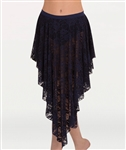 Body Wrappers Women's Lace Convertible Long Back or Side Drapey Skirt in Sizes XS/S, M/L, XL/2X - You Go Girl Dancewear