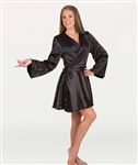 Body Wrappers Adult Easy-Fit Short Satin Robe Cover-up - You Go Girl Dancewear