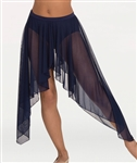 Body Wrappers Women's Convertible Long Back or Side Drapey Chiffon Skirt in Sizes XS/S, M/L, XL/2X in Sizes XS/S, M/L, XL/2X