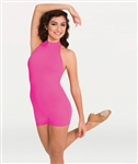 Body Wrappers Adult Mock Neck Halter Dance Biketard, Sizes: XS, S, M, L, XL, 2X - You Go Girl Dancewear