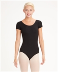 Capezio Plus Nylon Scoop Neck Adult Short Sleeve Leotard - Style TB133X - You Go Girl Dancewear