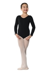 Danshuz Child Long Sleeve Cotton Leotard - You Go Girl Dancewear