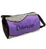 Silver Sizzle Duffle Dance Bag in Purple - You Go Girl Dancewear
