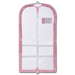 Danshuz Clear Competition Garment Bag with Pink Trim - You Go Girl Dancewear