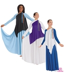 Eurotard Adult Asymmetrical Streamer Tunic, PLUS - You Go Girl Dancewear