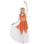 Eurotard Adult Shimmer Handkerchief Tunic, PLUS - You Go Girl Dancewear