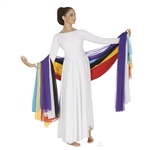 Eurotard Chiffon Scarf/Veil/Sash - You Go Girl Dancewear