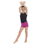 "Eurotard Child MicroValue ""V"" Front Booty Shorts - You Go Girl Dancewear"
