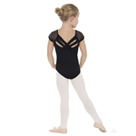 Eurotard Child Diamond Mesh Cap Slv Leo w/ Trestle Back - You Go Girl Dancewear