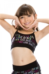 "Sequined ""Love Dance"" Cami Top"