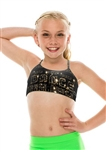 KIDS BLACK AND GOLD DANCE CAMI BRA TOP - You Go Girl Dancewear