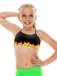 KIDS Fire DANCE CAMI BRA TOP - You Go Girl Dancewear